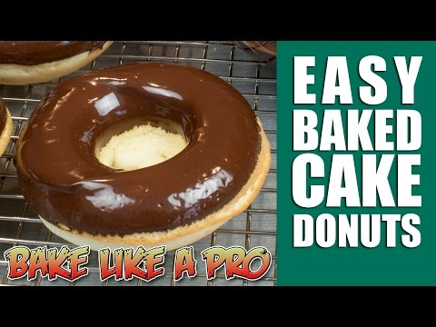 Easy Baked Cake Donuts Recipe