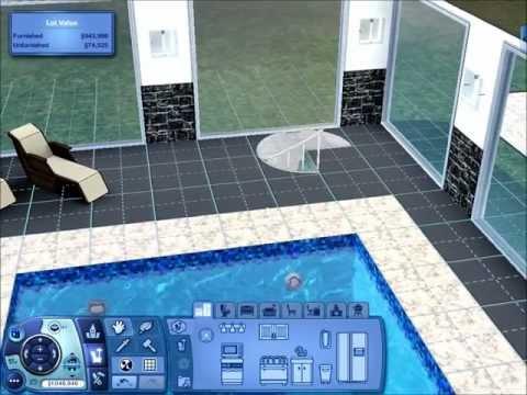 Sims 3 - Underground Pool House