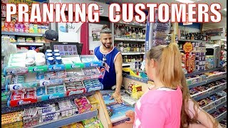 PRETENDING TO WORK IN A STORE!! *pranking customers*
