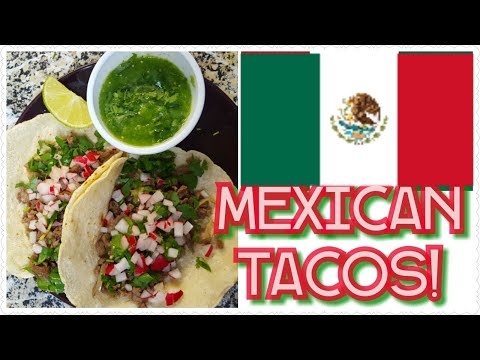 How to make CARNE ASADA TACOS With GREEN SALSA| Street MEXICAN ASADA TACOS-MarielsVlog ♡