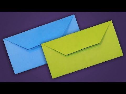 How To Make Envelope - Easy Origami Paper Envelope Tutorial Without Glue
