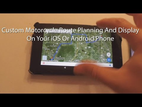 Custom Motorcycle Map Route Planning And Creation On a Phone And Computer