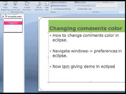 how to change comments font colour in eclipse