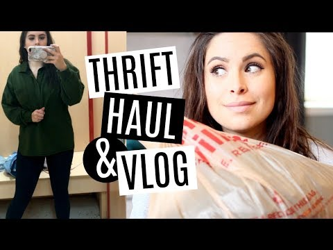 THRIFT WITH ME! VLOG, TRY-ON, & HAUL