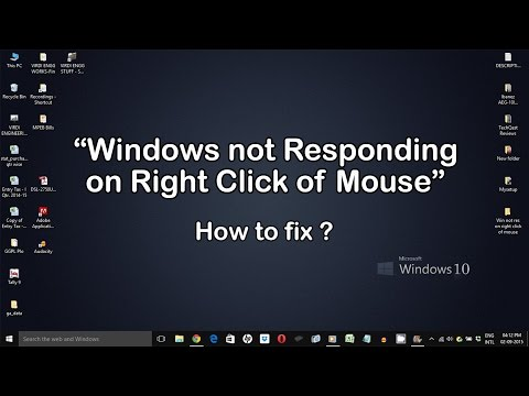Windows not Responding on Right Click of Mouse - How to Fix(Windows 10, 8)
