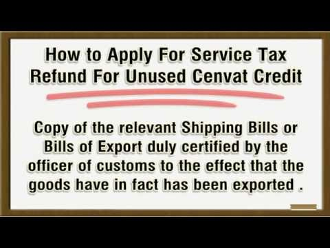 Service Tax Refund Procedure-How To Apply For Refund