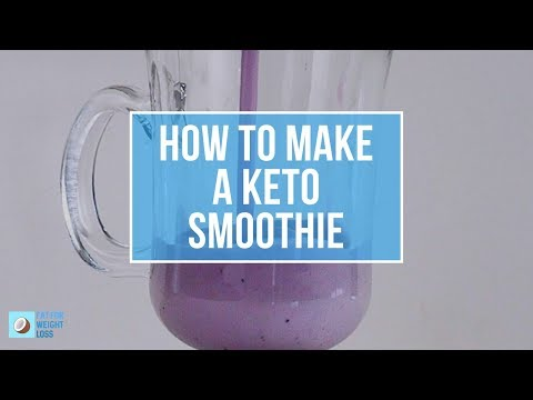 How To Make Keto Blueberry Smoothie - Deliciously Creamy