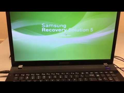 How to restore a Samsung laptop back to factory settings