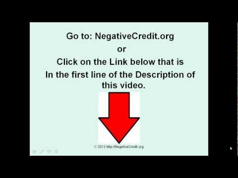 Negative Credit - How To Force Credit Bureaus to Remove Negative Credit From Your Credit Report