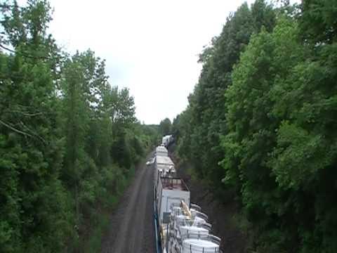 Strates Train at Crystal Run, New York (Off closed bridge along Rt 211)