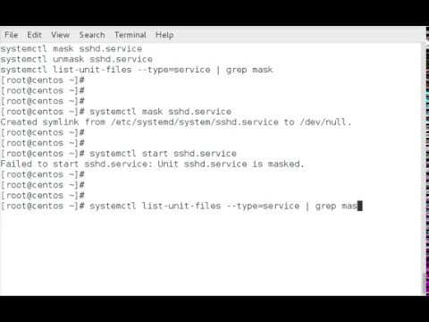 How to mask and unmask services with systemctl on RHEL or CentOS