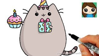 how to draw pusheen easy