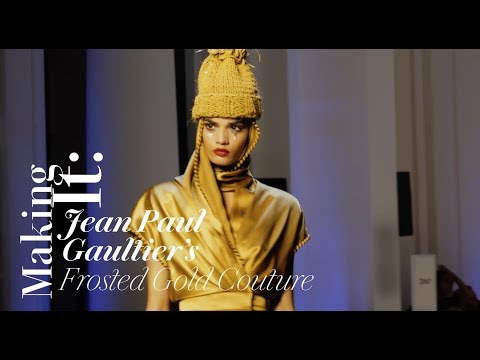 How Jean Paul Gaultier's Couture Fall 2017 Runway Beauty Look Was Created