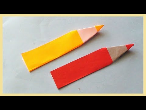 DIY Origami Paper Pencil | How to make paper crafts tutorials