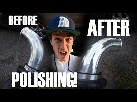 How To Polish Aluminum and Alloy Metal Intake / Intercooler Pipe Polishing