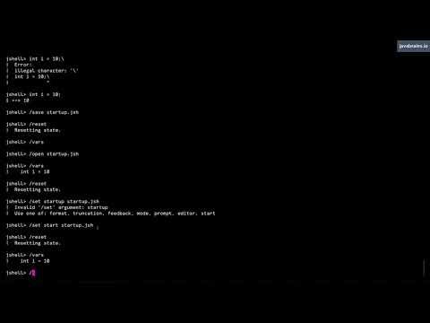 JShell Basics 16 - Creating startup scripts