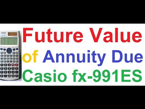 Future Value of Annuity Due, PPF Calculation on Casio fx-991ES Scientific Calculator