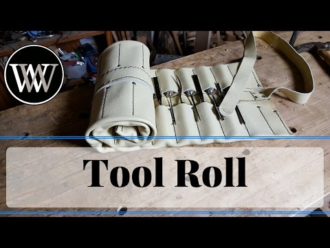 How To Make A Tool Roll From Leather for Woodworking Carving Chisels
