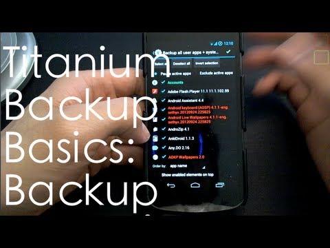 Titanium Backup Basics #1: Backup