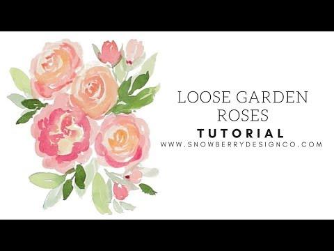 Loose Garden Rose   TUTORIAL