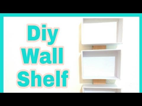 Diy Wall Shelf/Diy cardboard Shelf