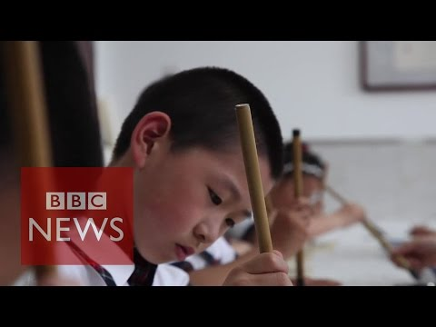 Chinese caligraphy: When children forget how to write - BBC News