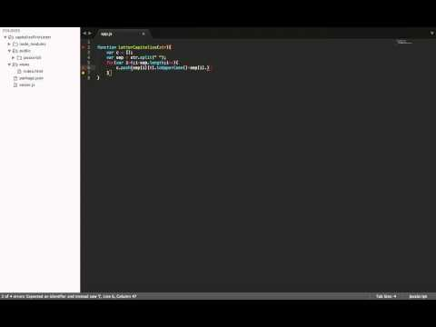 Intro to Javascript - Capitalize the first letter of a word