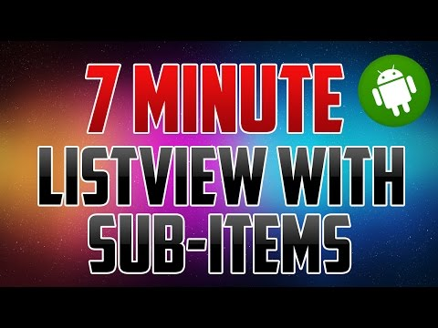 Android Studio : How to Create a Listview with SubItems