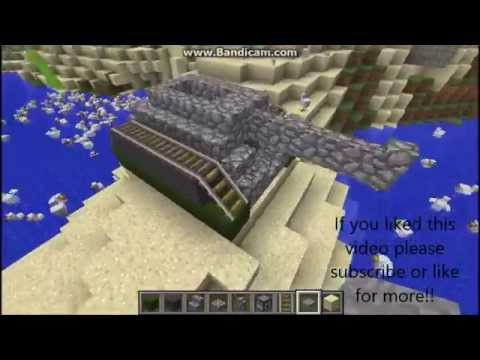 Minecraft // How to make a working tank // NO MODS