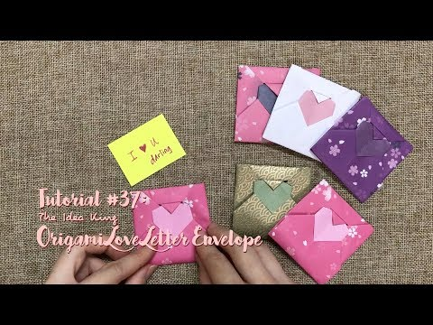 How to Make DIY Origami Love Letter Envelope? | The Idea King Tutorial #37