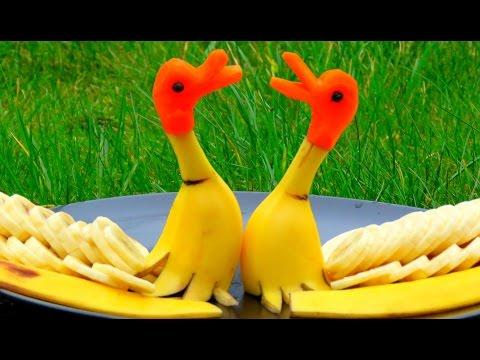 Step By Step: How It's Made Banana Rubber Ducks   Banana Art   Fruit Carving Banana Decoration