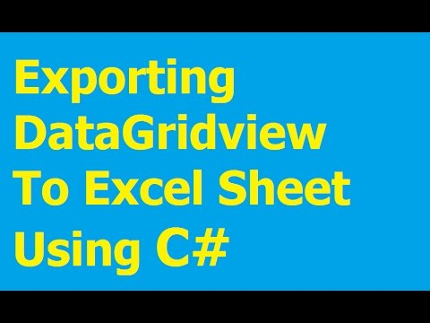 Exporting DataGridview To Excel C# - Step by Step