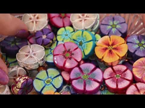 Pencil Stroke Flower Beads