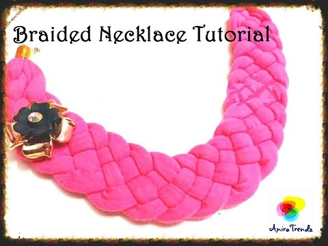 How to make 5 strand Braided thread necklace at home