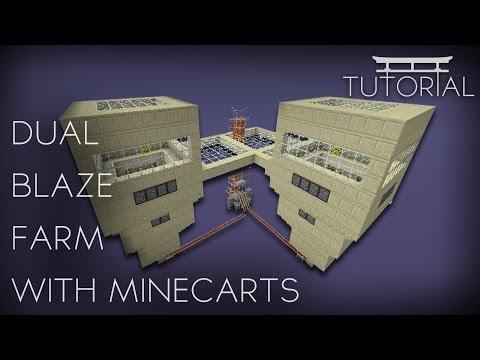 Tutorial: Dual Blaze Farm - Using Minecarts 1.7.4