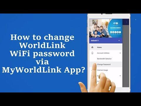 How to change your WiFi password via MyWorldLink App?