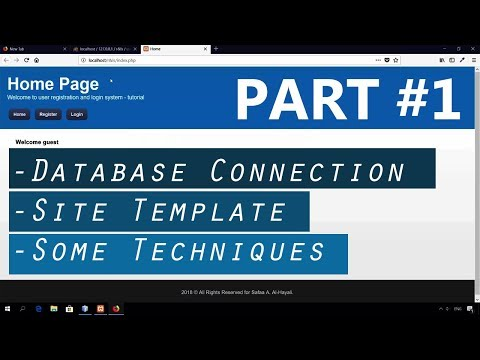 PART #1: Registration and Login System Tutorial Using PHP and MYSQL