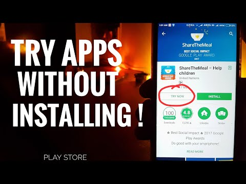 Use Apps Without Installing From The Play Store!