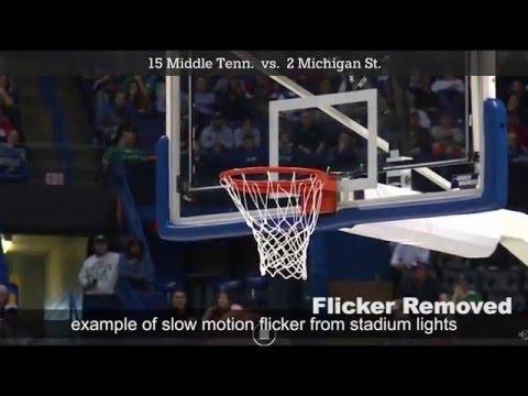 Slow Motion Stadium Light Flicker on Big Sporting Events