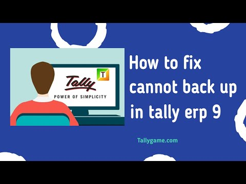 How to Fix cannot backup company in Tally ERP9