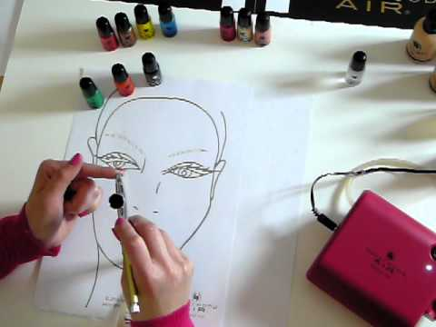 How to mix colour and clean your airbrush by Hollywood Air Airbrush Makeup TV