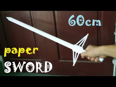 How to make a Paper Sword 60cm | Creative toy