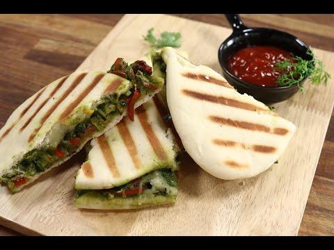 Pesto Panini Sandwich In Gujarati | Snacky Ideas by Amisha Doshi | Sanjeev Kapoor Khazana