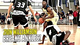 Zion Williamson BREAKS Defenders ANKLES & Hits The Shot!! Adidas Gauntlet Day 2!!