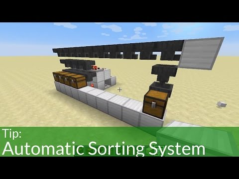 Tip: Automatic Sorting System in Minecraft