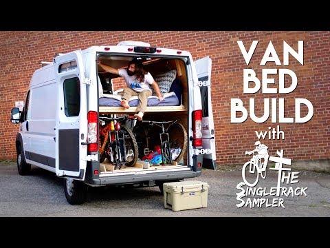 DIY Camper Van Conversion Bed Build, Converts To A Couch! #VANLIFE