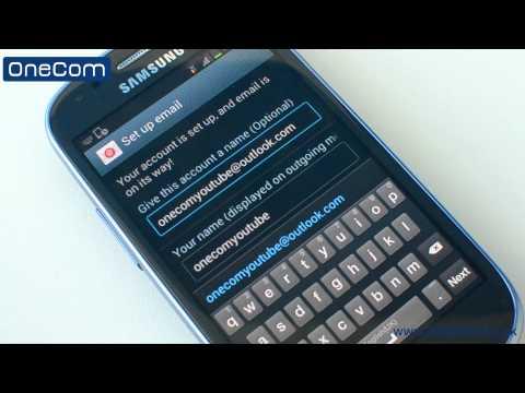 Samsung Galaxy S3 Mini: Email Setup
