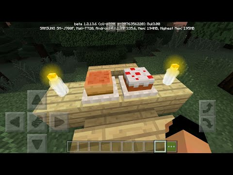 MCPE 1.2 How To Place Any Food On A Plate