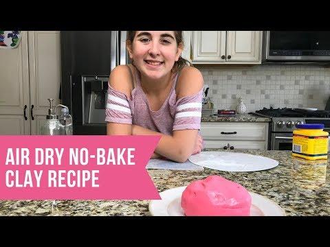 How To Make Air Dry Clay No Bake Recipe Tutorial