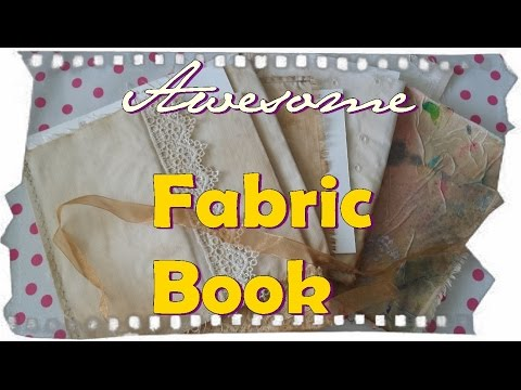 How to prepare the fabric for a Cloth Book tutorial Part 2 . AyalaArt
